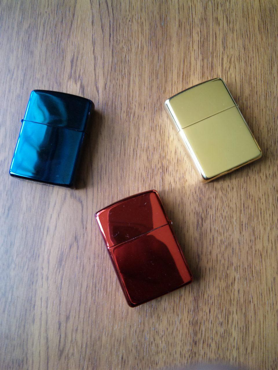 3色Zippo